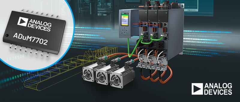 Изолированный сигма-дельта-модулятор ADuM7702 Analog Devices для управления двигателями и измерения токов