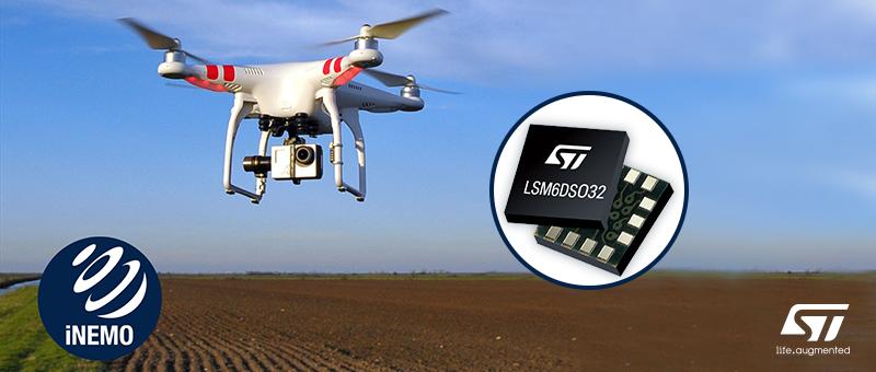 Новый LSM6DSO32 расширяет возможности MEMS-датчиков движения